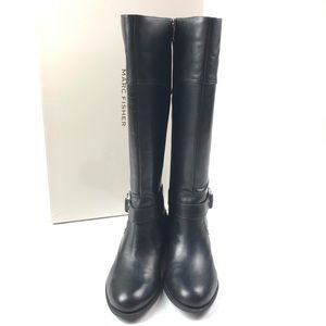 New MARC FISHER Gatway boot 8 black leather buckle